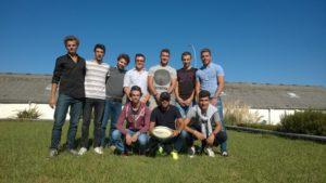 Équipe de rugby, étudiants 3ème année