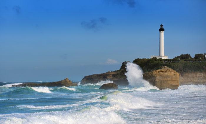 tempete phare biarritz
